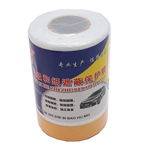 (Autoly Pre-Taped Masking Film for Car Decoration Auto Paint Protection 30x0.55 Meter/Roll)