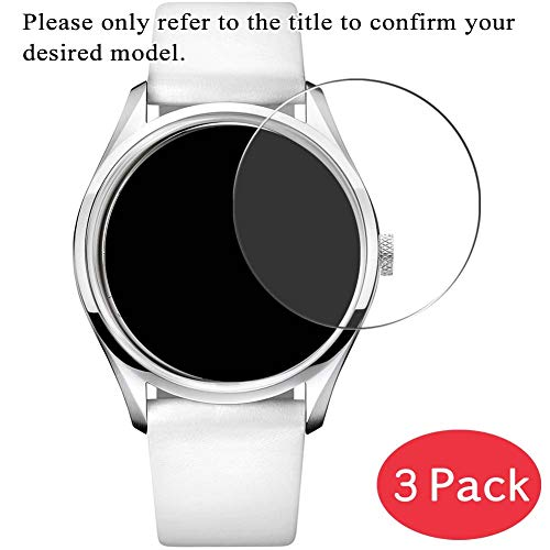 [3 Pack] Synvy Tempered Glass Screen Protector for TIMEX E-Altimeter T49791 9H Protective Screen Film Protectors Smartwatch Smart Watch