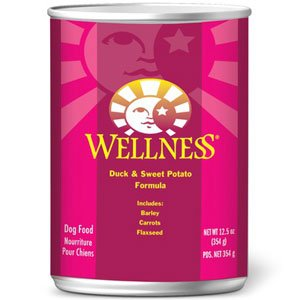 Wellness Complete Health Duck & Sweet Potato Formula Canned Dog Food, 6-oz, case of 24