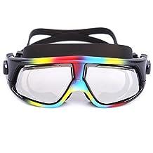 Whale Prescription Swimming Goggles,10 Colors Available Optical Myopia Swim Goggles Leakproof Design Anti-Fog UV Protection for Outdoor Swimming(Prescription:1.5-6.5 Diopters)