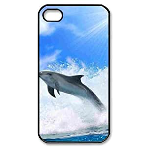 Dolphin Use Your Own Image Phone Case for Iphone 4,4S,customized case cover ygtg519578
