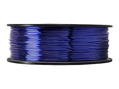 3D PETG 1KG 1.75mm Transparent Blue PETG 3D Printer Filament, Diameter Tolerance +/- 0.05 mm, 1 KG Spool, 1.75 mm, Transparent Blue