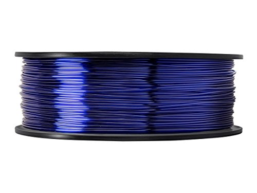 3D Flexible TPU 0.8KG 1.75mm Transparent Blue Flexible TPU 3D Printer Filament, Diameter Tolerance +/- 0.05 mm, 0.8KG Spool, 1.75 mm, Transparent Blue by EVERGREEN TREE