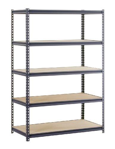 Edsal UR2448 Industrial Gray Heavy Duty Steel Boltless Shelving Storage Rack, 1400 Capacity, 48
