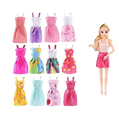 "Set for 11"" Barbie Dolls Clothes Accessories"