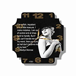 Marilyn Monroe 11'' Handmade Wall Clock - Get Unique décor for Home or Office - Best Gift Ideas for Kids, Friends, Parents and Your Soul Mates.