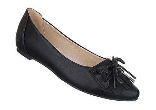Damen Ballerinas Schuhe Loafers Slipper Slip-on Flats Pumps Blau Silber 36 aWorYAp8