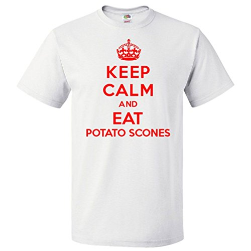 ShirtScope Keep Calm and Eat Potato Scones T Shirt Funny Tee 5XL