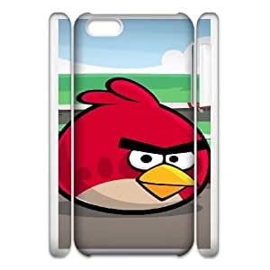 Angry Birds iphone 5c Cell Phone Case 3D White DIY Ornaments xxy002_3593576