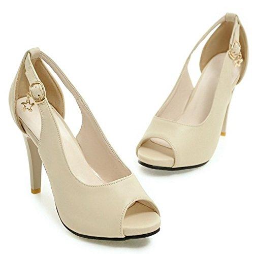 Aiguille Fermoir Talons Chaussures Mode Femme Toe Coolcept Peep Bas Uwx0Y8qnaO