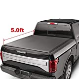 oEdRo TRI-FOLD Truck Bed Tonneau Cover Compatible with 2016-2019 Toyota Tacoma | Fleetside 5' Bed