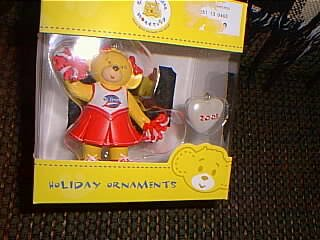 - Build-A-Bear Cheerleader Bear or Angel Bear Ornament Set 2005