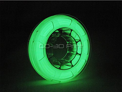 GO-3D PRINT Mini Glow in the Dark Green PLA Color Changing 3D Printing Filament 1.75mm 225g
