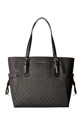 MICHAEL Michael Kors Voyager East West Signature Tote (Signature Black) ()