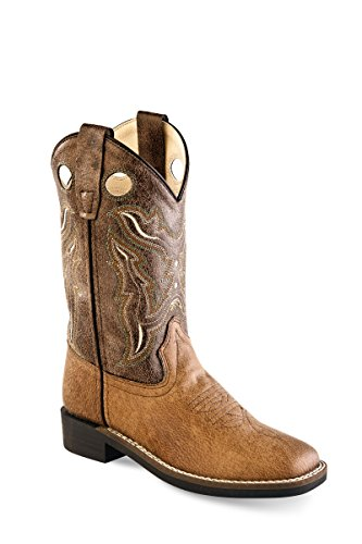 Old West Cowboy Boots Boys Girls Stitching 10 Child Tan Brown VB9113 - Old West Cowboy Clothing