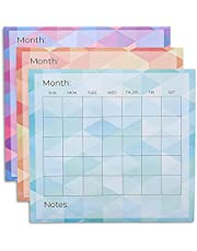 Paper Junkie 6-Pack Adhesive Blank Monthly Dry Erase Wall Calendar, 14 x 12.5 Inches