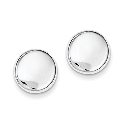 Designs by Nathan, Classic Polished 12mm Button Post Stud 925 Seamless Sterling Silver Earrings