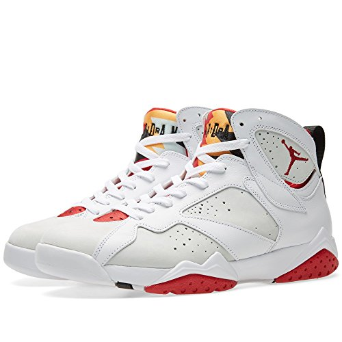 Nike Air Jordan 7 Retro, Zapatillas de Deporte para Hombre white/true red-light slvr-trmln