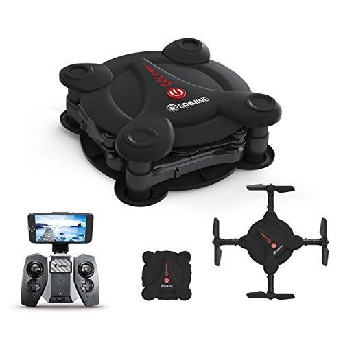 ARRIS Eachine E55 Mini WiFi FPV Foldable Pocket Drone With High Hold Mode RC Quadcopter RTF