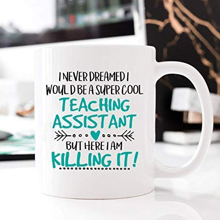 Super Cool Teaching Assistant, Occupational Mug, Killing It, Teaching Assistant Mug, Mug Teaching Assistant, Teaching Assistant, Gift