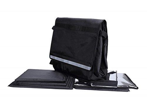 Bike Transporttasche Extra gro/ße Box Die isoliert Lieferung Tasche f/ür Takeaway Lebensmittel Lieferungen H/ält bis zu 25,4/x 45,7/cm Pizzas Verwendung als Rucksack oder Gurt zu Fahrrad oder Motorrad