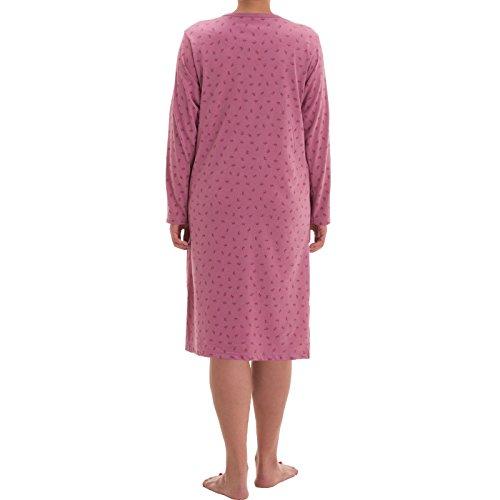 Zeitlos Damen Nachthemd Blumen Druck (M, Altrosa)