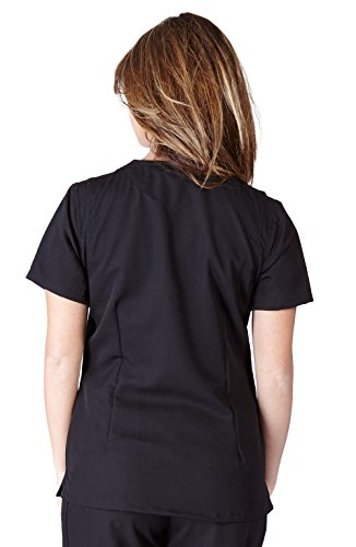 ffe44800192 Ultra Soft Scrubs Junior Womens Two Pocket Crossover Scrub Top, Order 1  Size Up