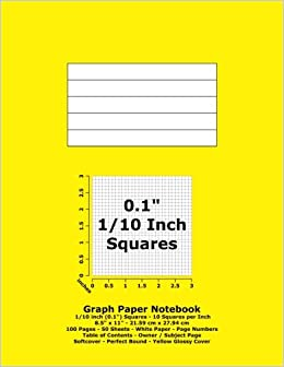 graph paper notebook 0 1 inch 1 10 squares 8 5 x 11 21 59