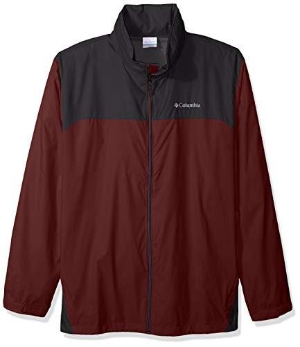 Columbia Men's Big and Tall Glennaker Lake Front-Zip Rain Jacket with Hideaway Hood, Elderberry/Shark, -