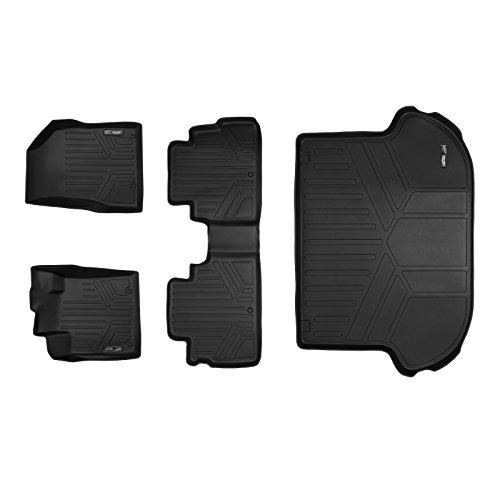 MAXFLOORMAT Floor Mats and MAXTRAY for Nissan Murano (2015-2017) 2 Row Set (Black)
