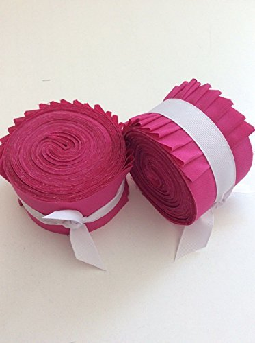 2.5 inch Bright Pink Solid Jelly Roll 100% cotton fabric quilting strips by mlgogo style