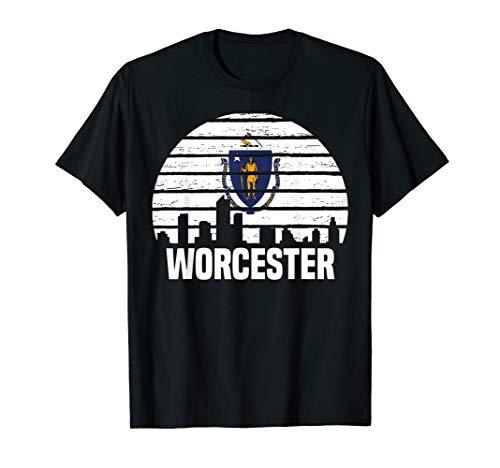 Worcester Massachusetts T-Shirt MA Group City Silhouette