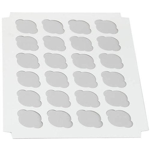 W Packaging White Insert for Holding Cupcakes in Cake Box (100, 14'' x 19'' Insert with 24 Cavities for Regular Cupcakes) by Unknown