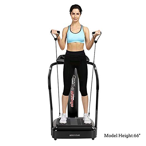 Murtisol Whole Body Vibration Platform Power Plate with Pulse Rate Grips,Resistance Bands,Multi-Speed by Murtisol (Image #2)