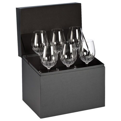 Waterford Crystal Lismore Essence Goblet Glasses Deluxe Gift Box, #155590, Set of (Deluxe Wine Box Set)