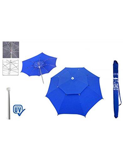 Sombrilla de playa color Azul, con funda para el transporte