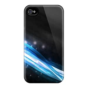 For Iphone Case, High Quality Blue Wave For Iphone 4/4s Cover Cases