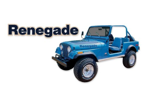 Renegade 1977 1978 Jeep CJ5 CJ7 Decals & Stripes Kit - ()
