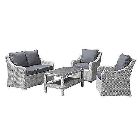 Nova Harper - Juego de sofá y sillones de jardín de 2 plazas ...