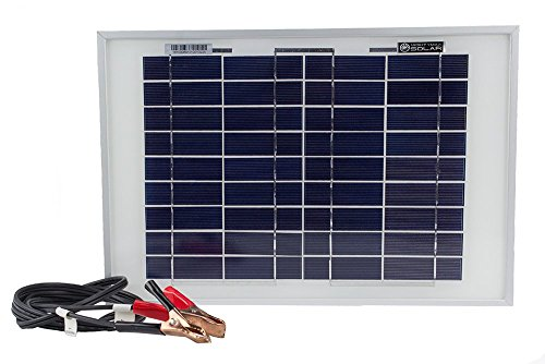 Mighty Max Battery 10 Watt Polycrystalline Solar Panel Charger for Deep Cycle Battery brand product by Mighty Max Battery