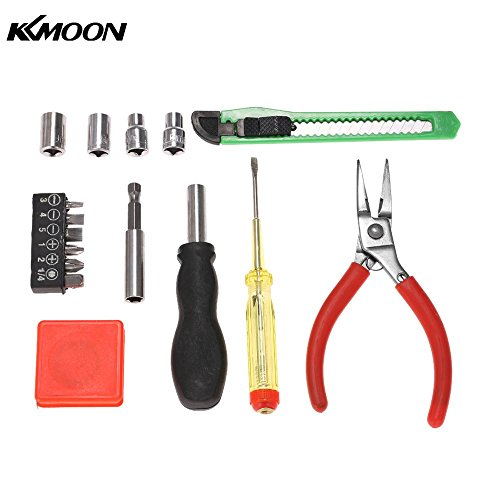 6pcs Multi-functional Household Repair Tools Kit Screwdriver Bits Sockets Pliers Cutter Steel Tape Car Shaped Case ()