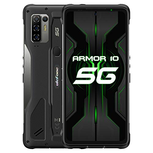 India Gadgets – Armor 10 5G Android Mobile Phone: 6.67″ FHD+ IPS Display: 8Gb + 128Gb: 64MP AI Quad Camera: Large 5800mAh Battery: Waterproof IP68 & IP69K Rugged Smartphone