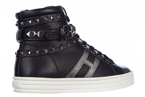 Hogan Zapatos Zapatillas de Deporte Niña EN Piel Nuevo Rebel Negro