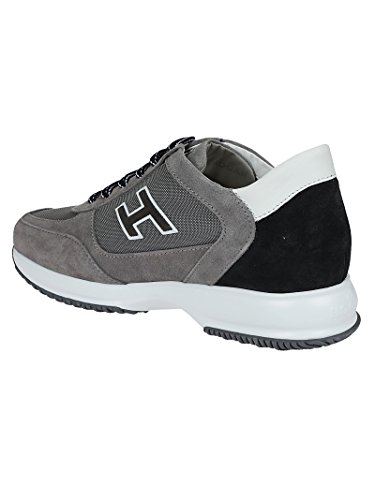 Hogan Sneakers Uomo HXM00N0Q102I9L413K Camoscio Grigio