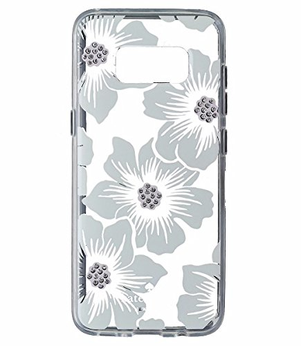 Kate Spade New York Hardshell Case Cover For Galaxy S8+ (S8 Plus) - Floral Clear