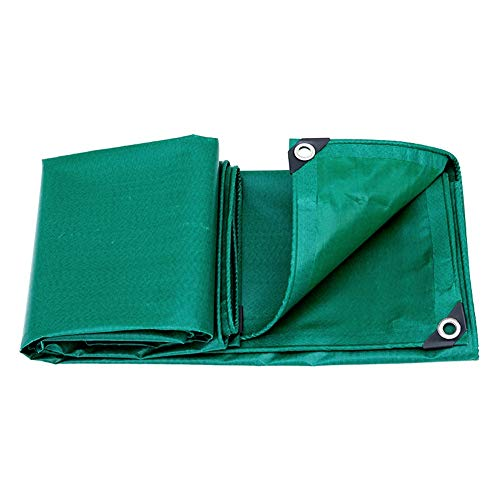 SYDDP Heavy Grade Tarpaulin,Sunscreen Antifreeze Soft PVC Coated Cloth,Thickened Rain Tarpaulin,Double-Sided Waterproof,Thickness 0.4mm,Weight 400g Per Square Meter,Double-Sided Green