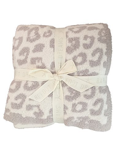Barefoot Dreams ''Barefoot in the Wild'' Throw Blanket - Leopard, Cream/Stone by Barefoot Dreams