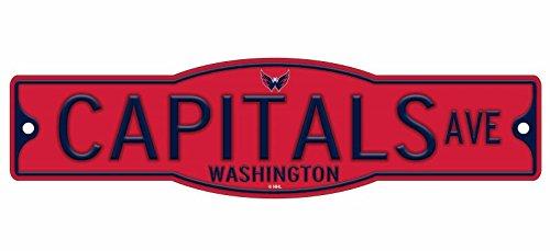 "WinCraft Washington Capitals 4"" x 17"" Plastic Street Sign NHL"