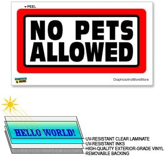 "12/""x6/"" Laminated Sign Window Business Sticker No Pets Allowed"