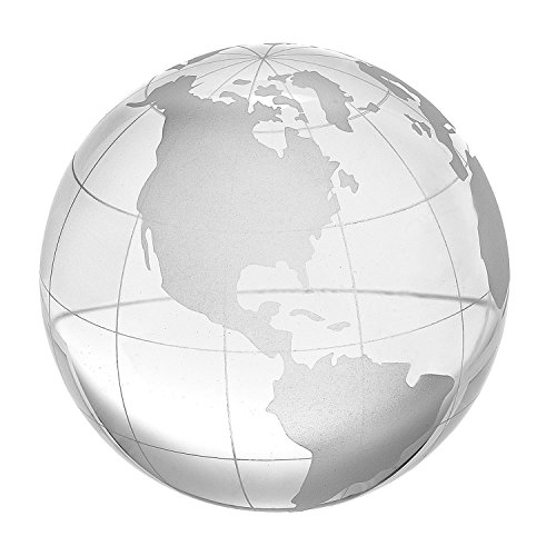 (Amlong Crystal 2.3 inch Globe Paperweight with Gift)